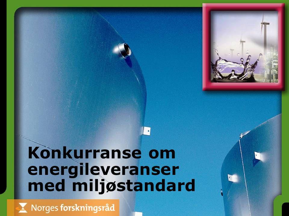 Konkurranse om energileveranser med miljøstandard