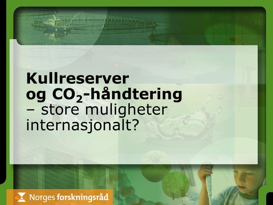 Kullreserver og CO 2 -håndtering – store muligheter internasjonalt