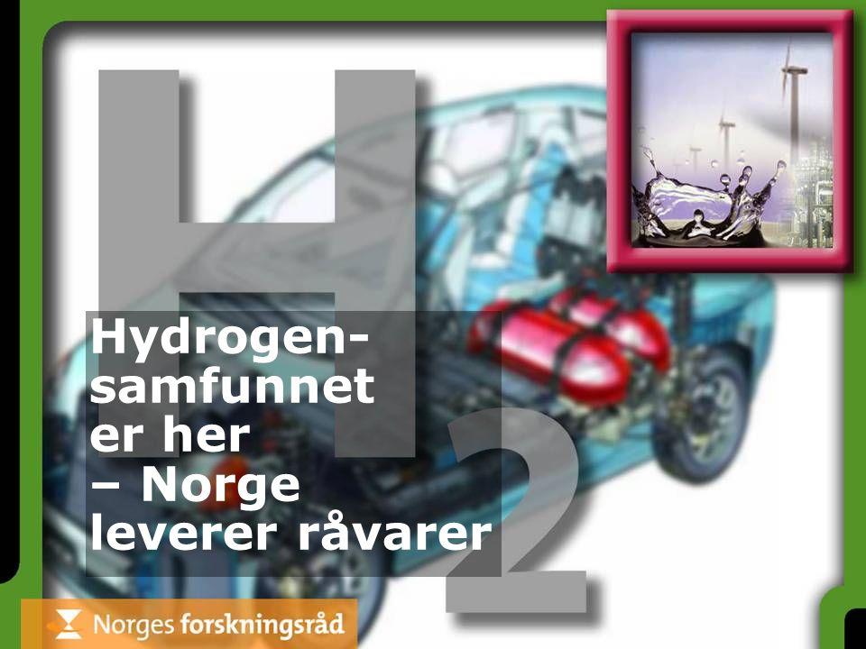 Hydrogen- samfunnet er her – Norge leverer råvarer
