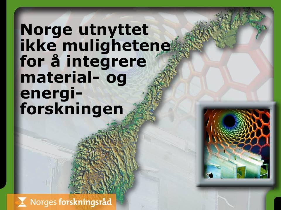 Norge utnyttet ikke mulighetene for å integrere material- og energi- forskningen