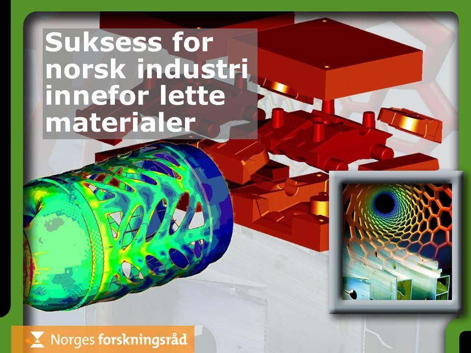 Suksess for norsk industri innefor lette materialer