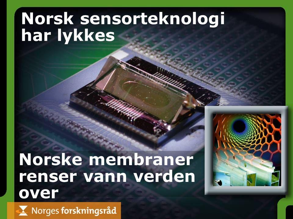 Norsk sensorteknologi har lykkes Norske membraner renser vann verden over