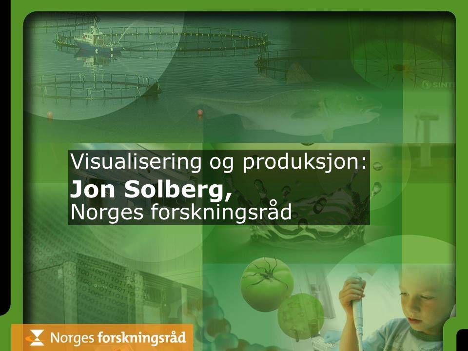 Visualisering og produksjon: Jon Solberg, Norges forskningsråd