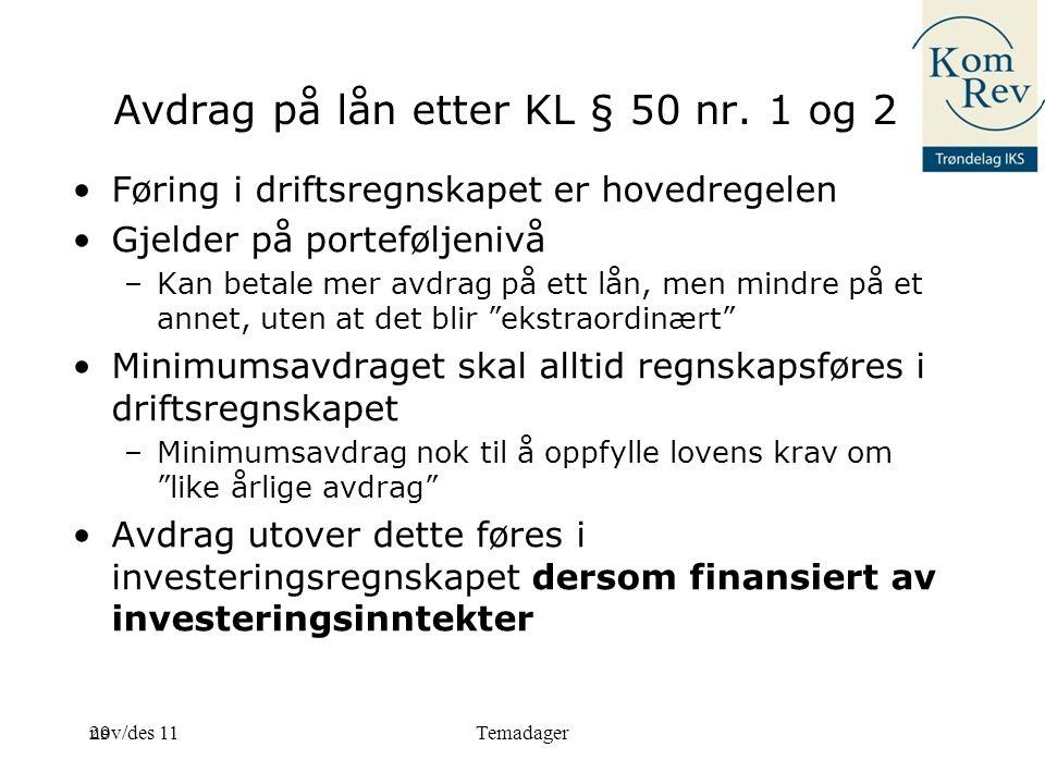 29 Avdrag på lån etter KL § 50 nr.