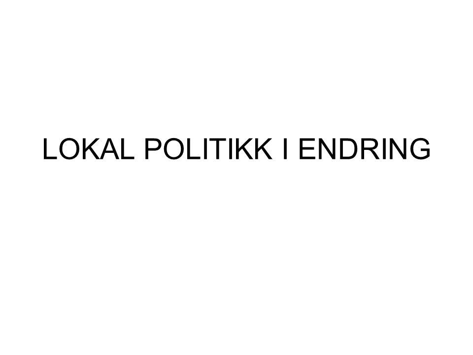 SKILLE POLITISK LEDELSE- PERIFERI POLITIKK PRODUKSJON RÅDMANN ORDFØRER