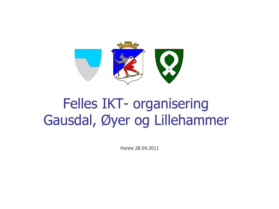 Felles IKT- organisering Gausdal, Øyer og Lillehammer Honne 28.04.2011