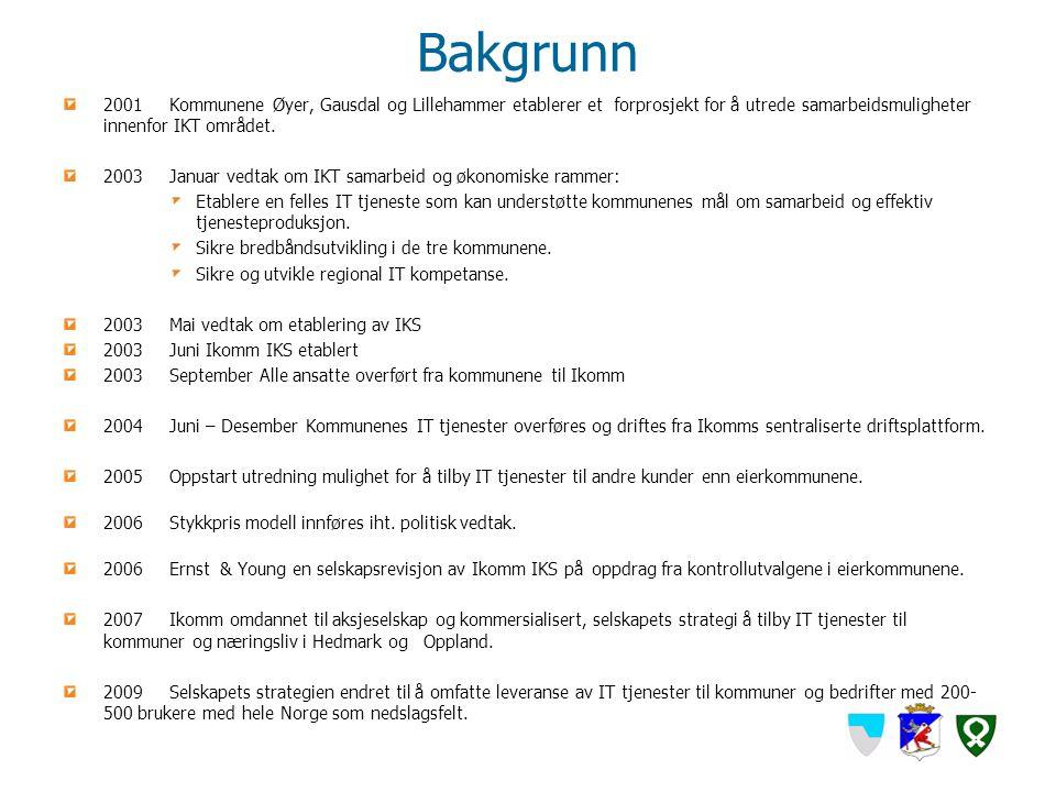 Bakgrunn 2001Kommunene Øyer, Gausdal og Lillehammer etablerer et forprosjekt for å utrede samarbeidsmuligheter innenfor IKT området. 2003Januar vedtak