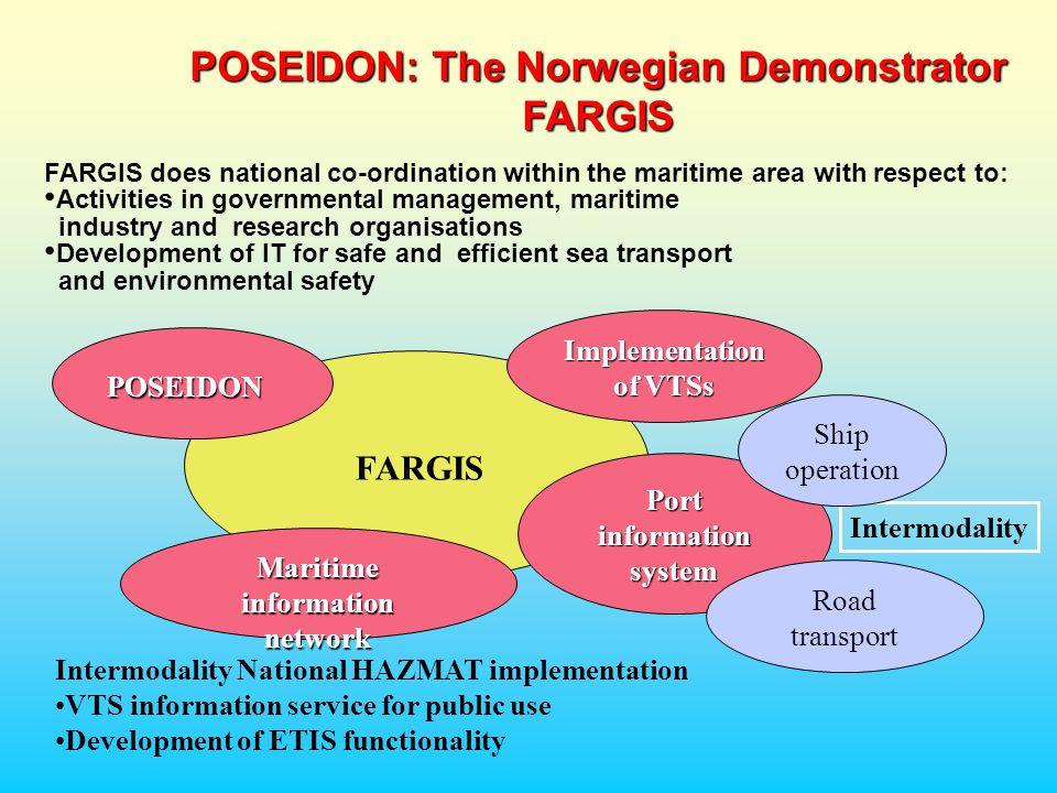 Informasjon tilgjengelig fra Trafikksentralen Demonstrere WEB løsning som viser live trafikk fra Oslofjorden VTS, som opereres av hhv.