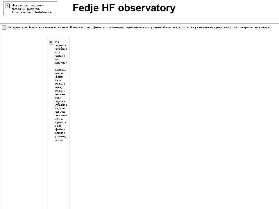 Fedje HF observatory