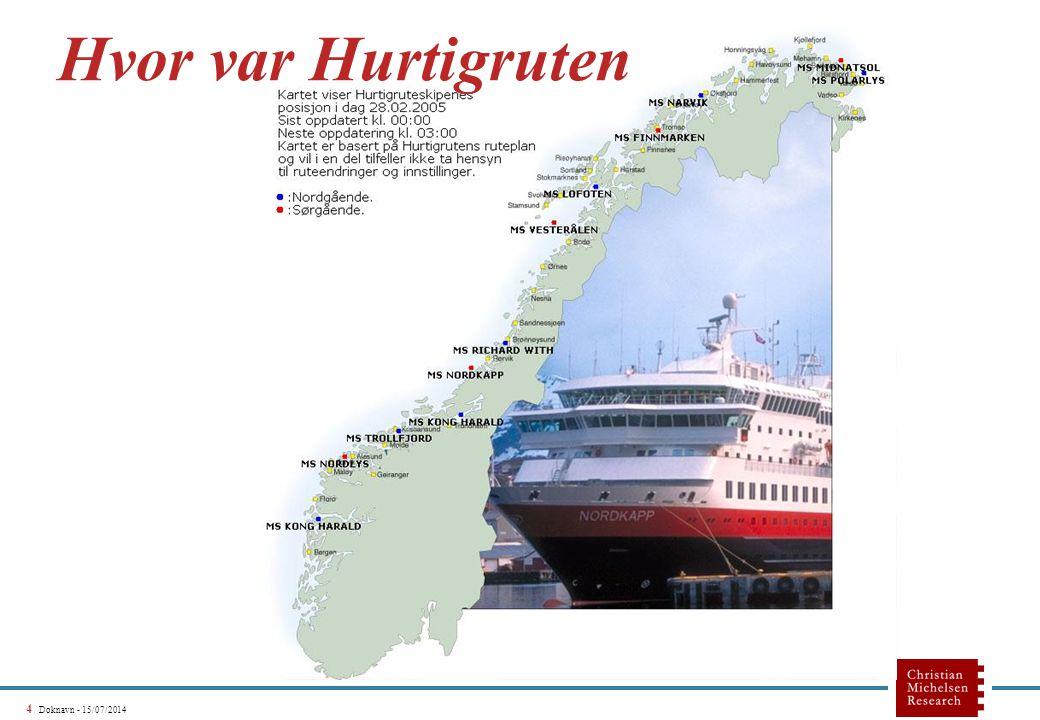 4 Doknavn - 15/07/2014 Hvor var Hurtigruten