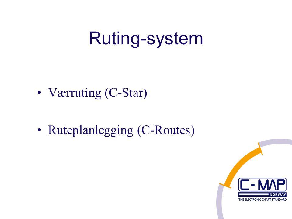 Ruting-system Værruting (C-Star) Ruteplanlegging (C-Routes)