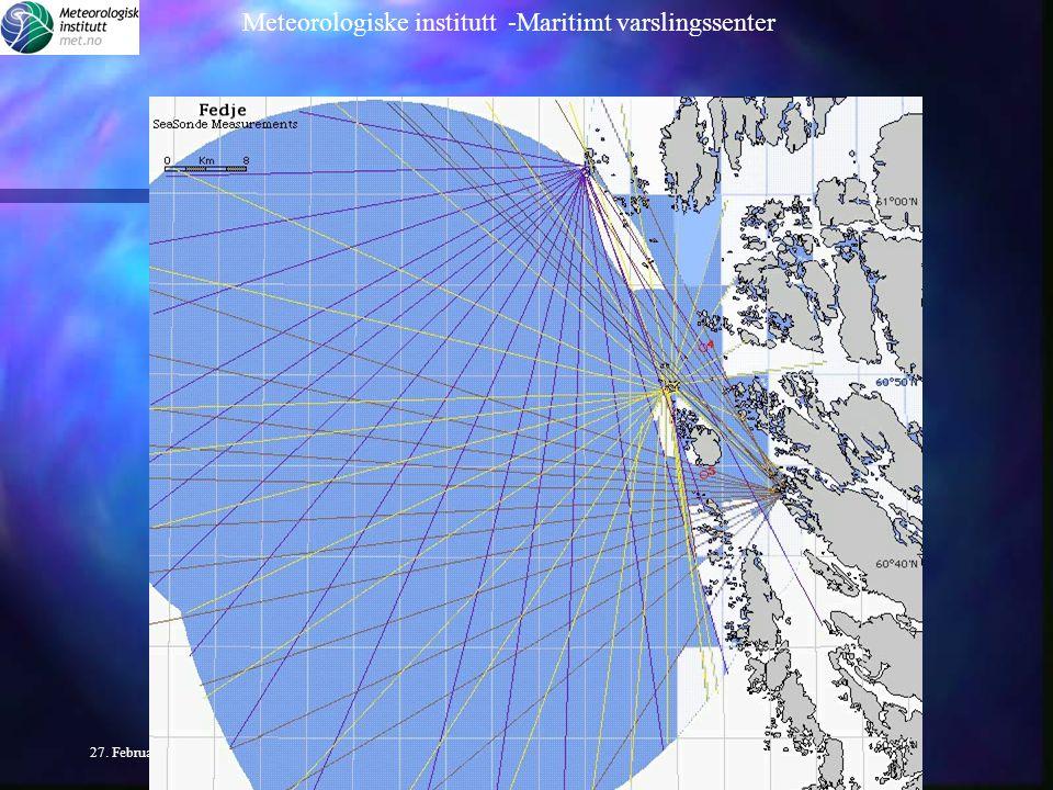 Meteorologiske institutt -Maritimt varslingssenter 27.
