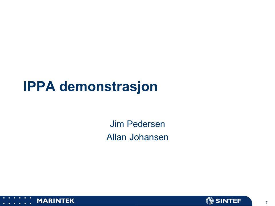 MARINTEK 7 IPPA demonstrasjon Jim Pedersen Allan Johansen