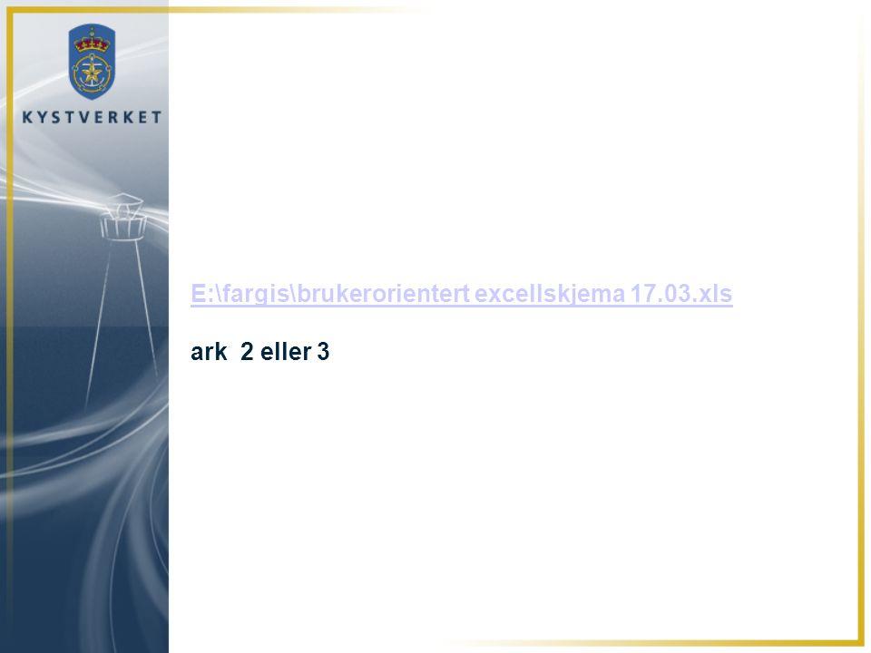 E:\fargis\brukerorientert excellskjema 17.03.xls E:\fargis\brukerorientert excellskjema 17.03.xls ark 2 eller 3