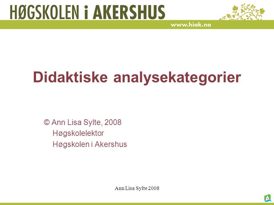 Ann Lisa Sylte 2008 Fredag kl.