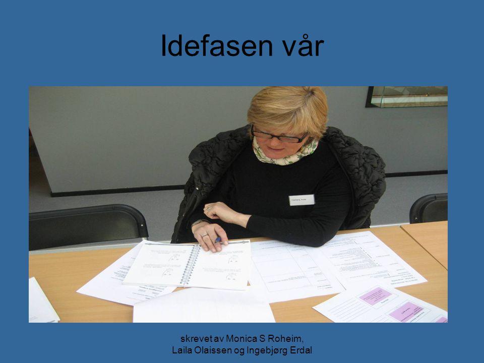 skrevet av Monica S Roheim, Laila Olaissen og Ingebjørg Erdal Idefasen vår