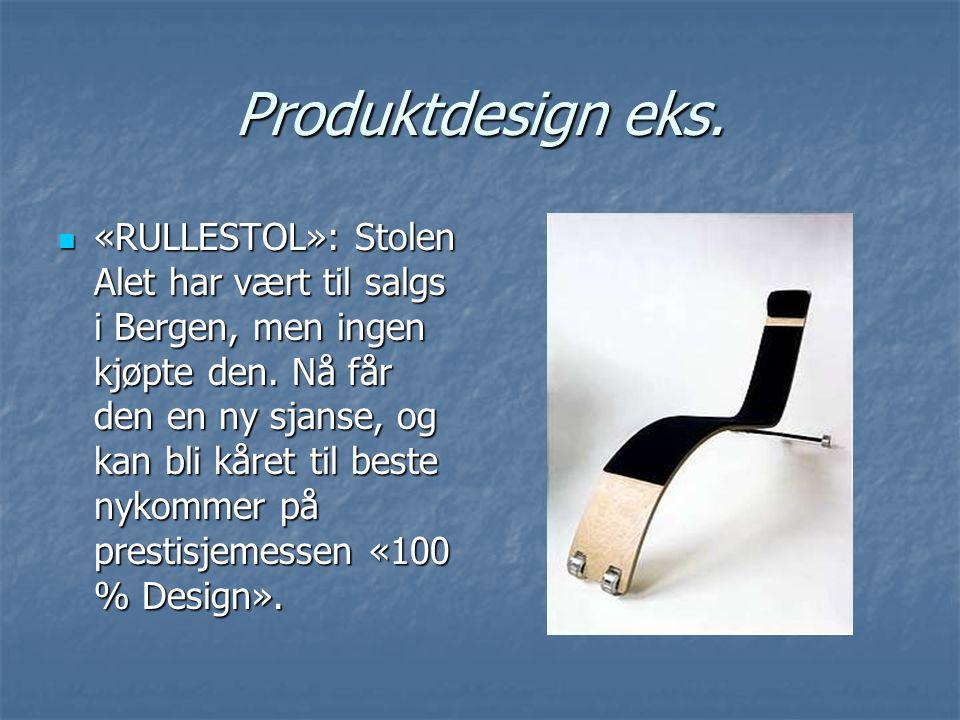 Produktdesign eks. «RULLESTOL»: Stolen Alet har vært til salgs i Bergen, men ingen kjøpte den. Nå får den en ny sjanse, og kan bli kåret til beste nyk