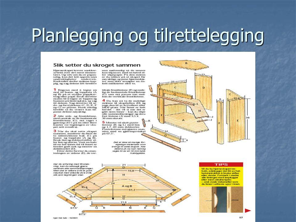 Planlegging og tilrettelegging