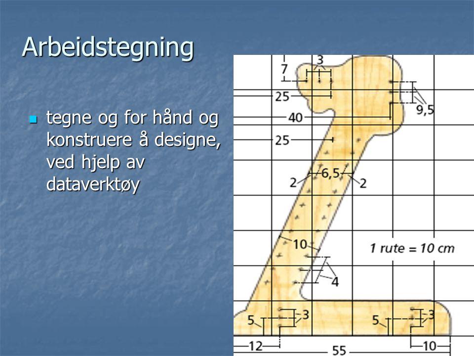 Arbeidstegning Arbeidstegning tegne og for hånd og konstruere å designe, ved hjelp av dataverktøy tegne og for hånd og konstruere å designe, ved hjelp