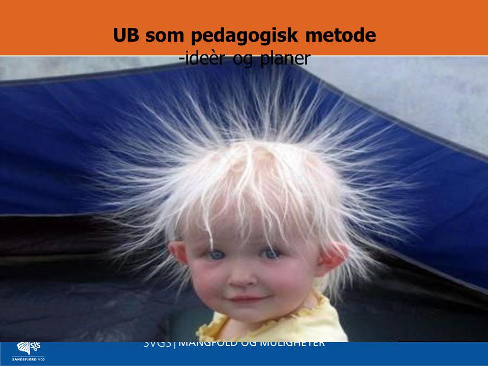 UB som pedagogisk metode -ideèr og planer