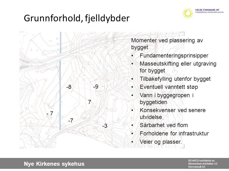 Nye Kirkenes sykehus BOARCH arkitekter as Momentum Arkitekter AS Norconsult AS 6 Forslag til ny plassering av bygget