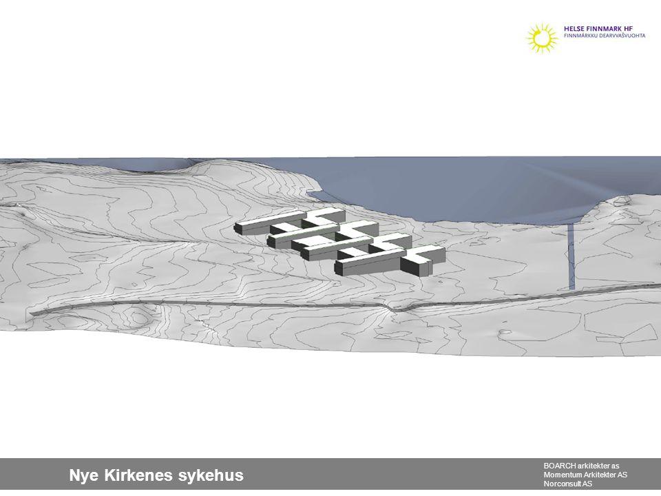 Nye Kirkenes sykehus BOARCH arkitekter as Momentum Arkitekter AS Norconsult AS Ny situasjonsplan 10