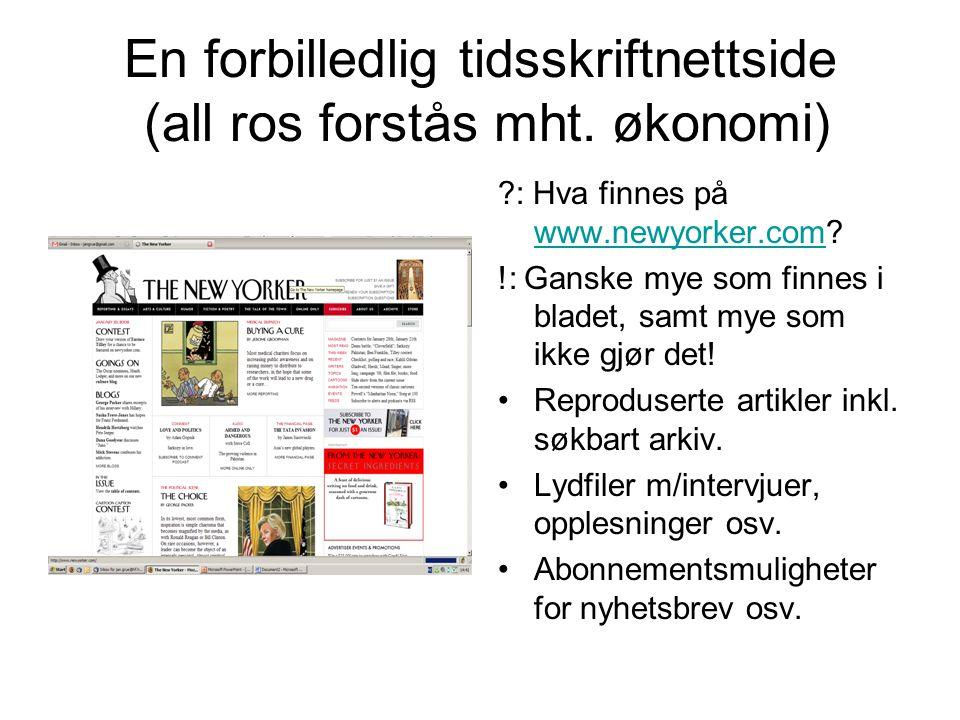 Nettidsskriftet kan: Innføre rotasjon på hovedartikler / forsidesaker (jf.