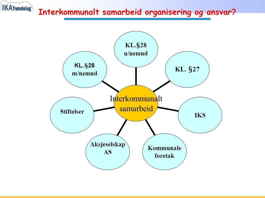 Interkommunalt samarbeid organisering og ansvar?