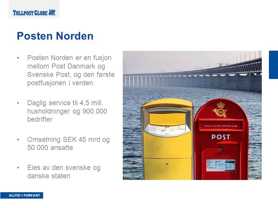 Posten Norden er en fusjon mellom Post Danmark og Svenske Post, og den første postfusjonen i verden.