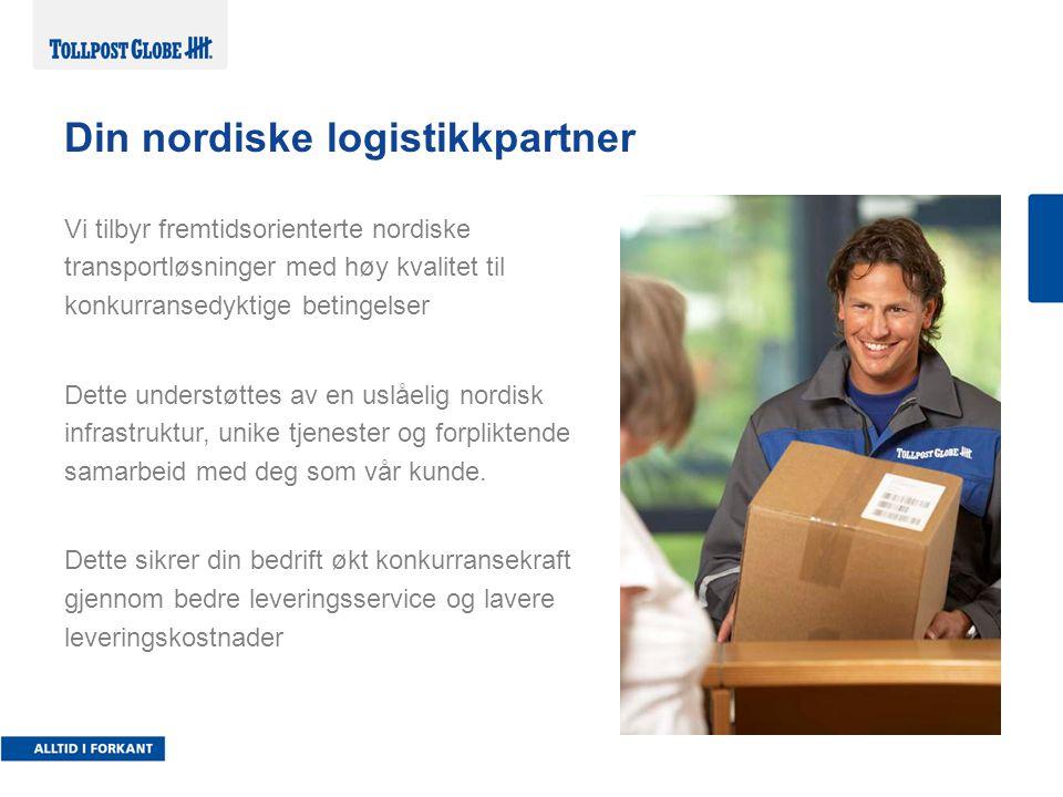 Vi tilbyr fremtidsorienterte nordiske transportløsninger med høy kvalitet til konkurransedyktige betingelser Dette understøttes av en uslåelig nordisk infrastruktur, unike tjenester og forpliktende samarbeid med deg som vår kunde.