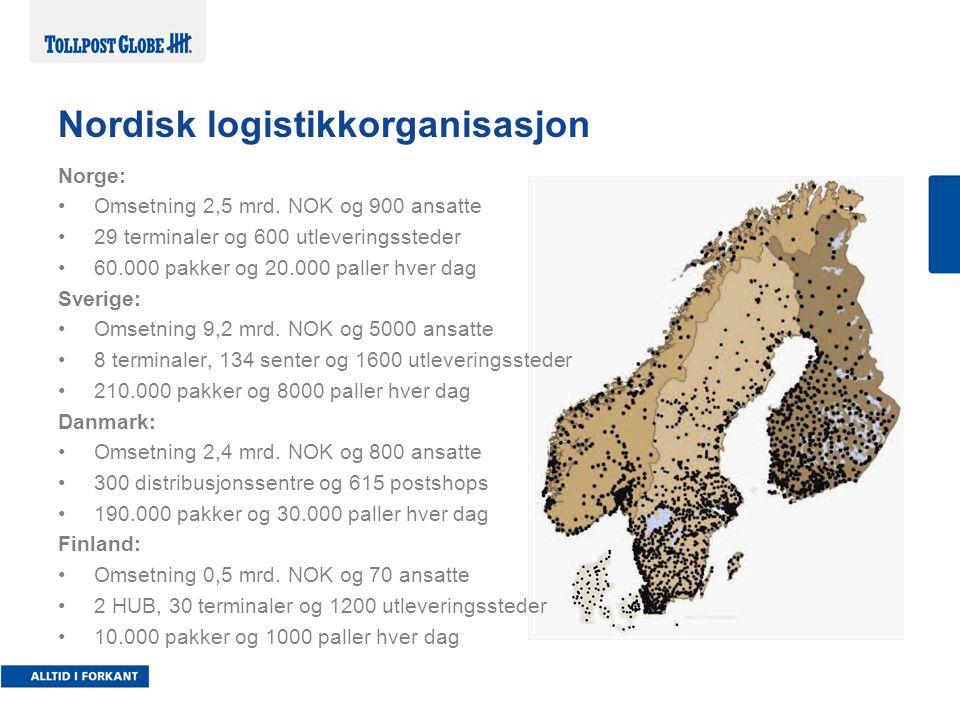 Nordisk logistikkorganisasjon Norge: Omsetning 2,5 mrd.