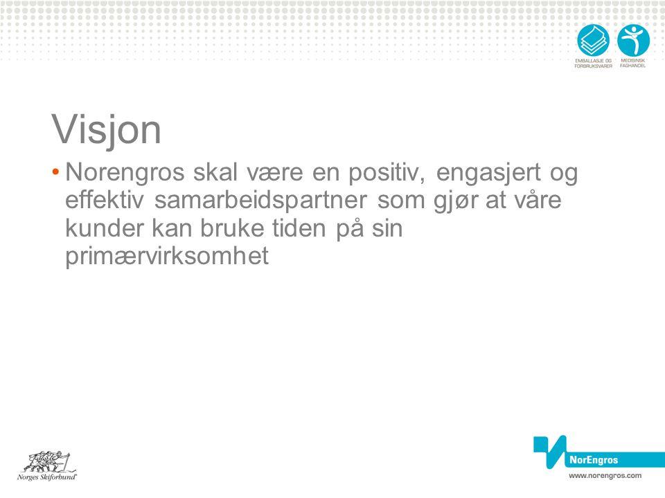 Visjon Norengros skal være en positiv, engasjert og effektiv samarbeidspartner som gjør at våre kunder kan bruke tiden på sin primærvirksomhet