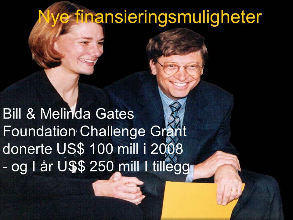 IPDG Sverre Bjønnes PolioPlus - Oslo RK- 5.03.09 30 Nye finansieringsmuligheter Bill & Melinda Gates Foundation Challenge Grant donerte US$ 100 mill i 2008 - og I år US$ 250 mill I tillegg