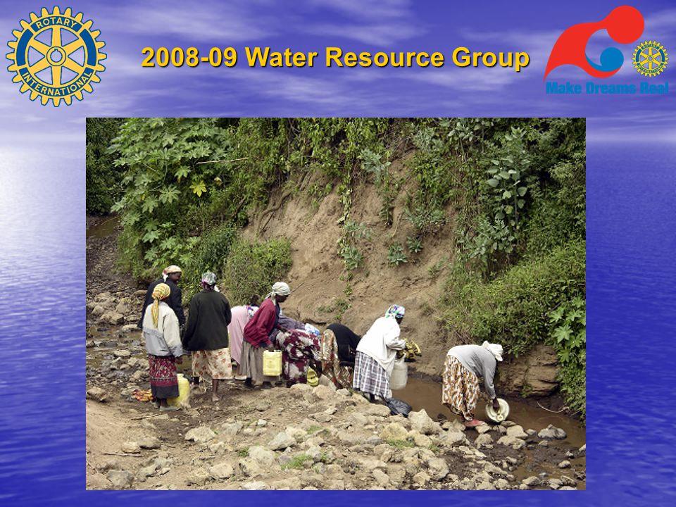 2008-09 Water Resource Group Hvordan fungerer et prosjekt  For å få støtte fra TRF må et prosjekt ha – Minst en sponsorklubb – En mottakerklubb som blir ansvarlig for implementeringen av prosjektet lokalt – Gjennomarbeidet prosjektplan – Spesifiserte budsjetter