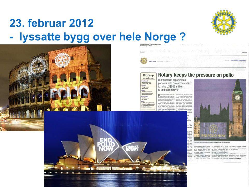 23. februar 2012 - lyssatte bygg over hele Norge