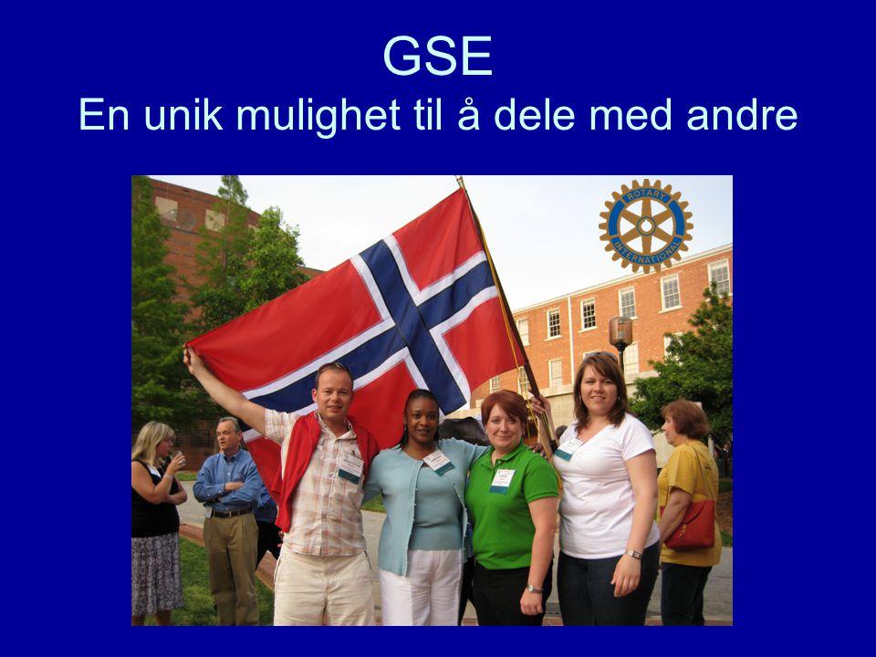 GSE En unik mulighet til å dele med andre