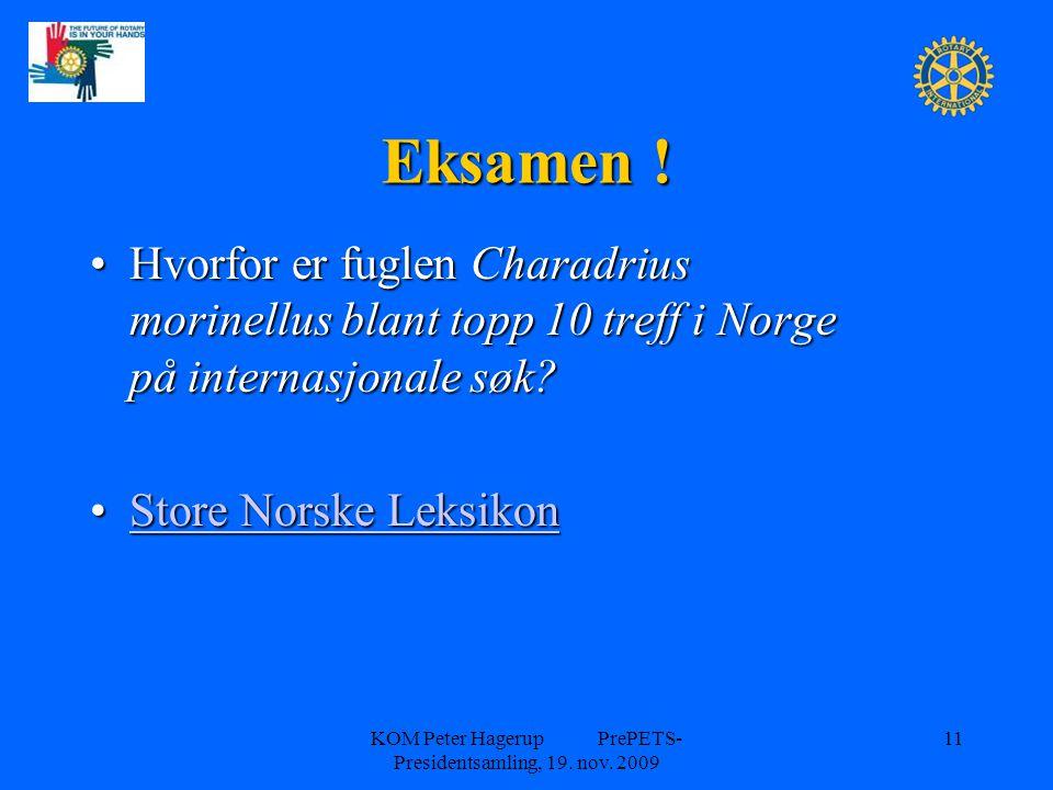 Eksamen ! Hvorfor er fuglen Charadrius morinellus blant topp 10 treff i Norge på internasjonale søk?Hvorfor er fuglen Charadrius morinellus blant topp