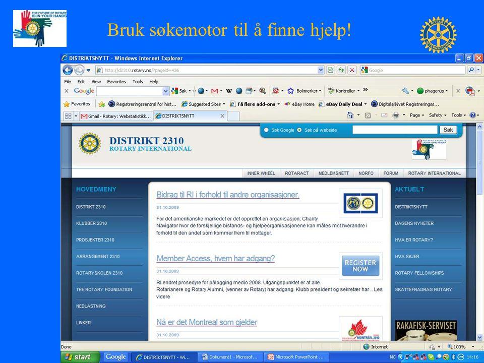 KOM Peter Hagerup PrePETS- Presidentsamling, 19. nov. 2009 2 Bruk søkemotor til å finne hjelp!