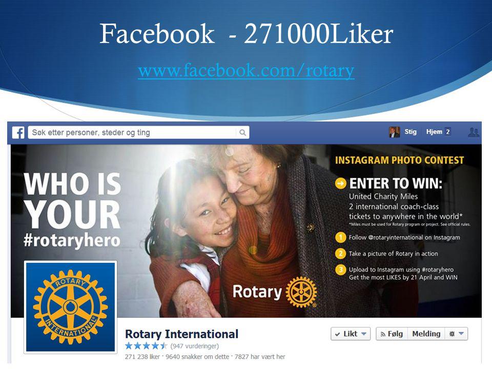 Facebook - 271000Liker www.facebook.com/rotary www.facebook.com/rotary