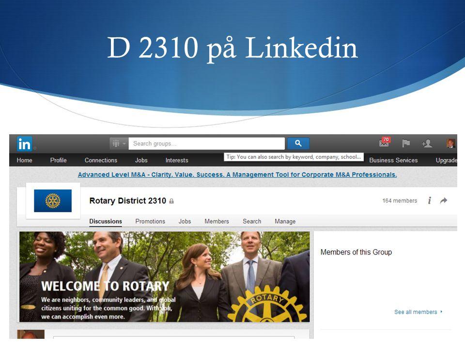 D 2310 på Linkedin