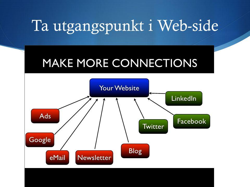 Ta utgangspunkt i Web-side