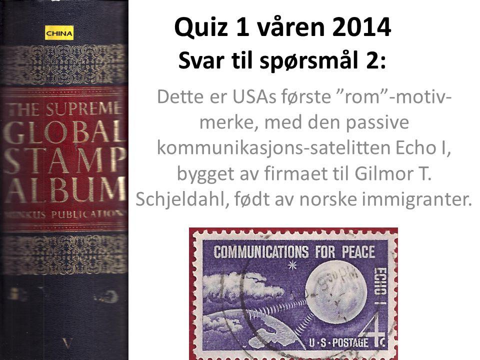 Quiz 1 våren 2014 Svar til spørsmål 3: Nei, Alfred Nobel solgte patent- rettighetene i Norge til et selskap for 10.000 Specidaler.