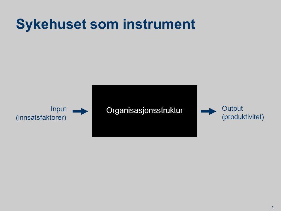 3 Instrumentell teori Begrenset rasjonalitet Betydningen av formelle strukturer Betydningen av omgivelser