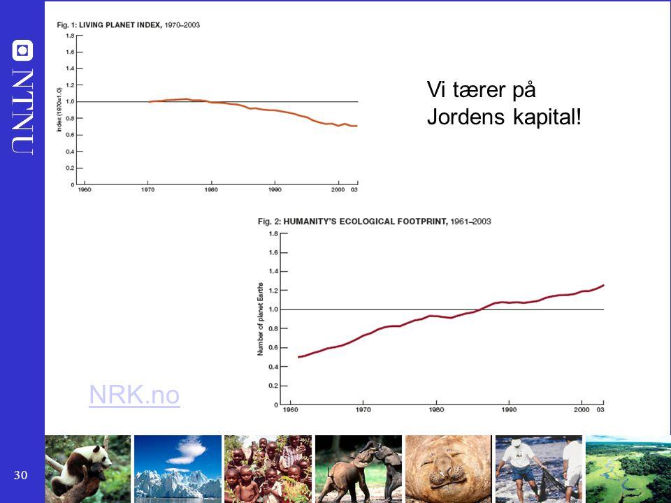 30 Vi tærer på Jordens kapital! NRK.no