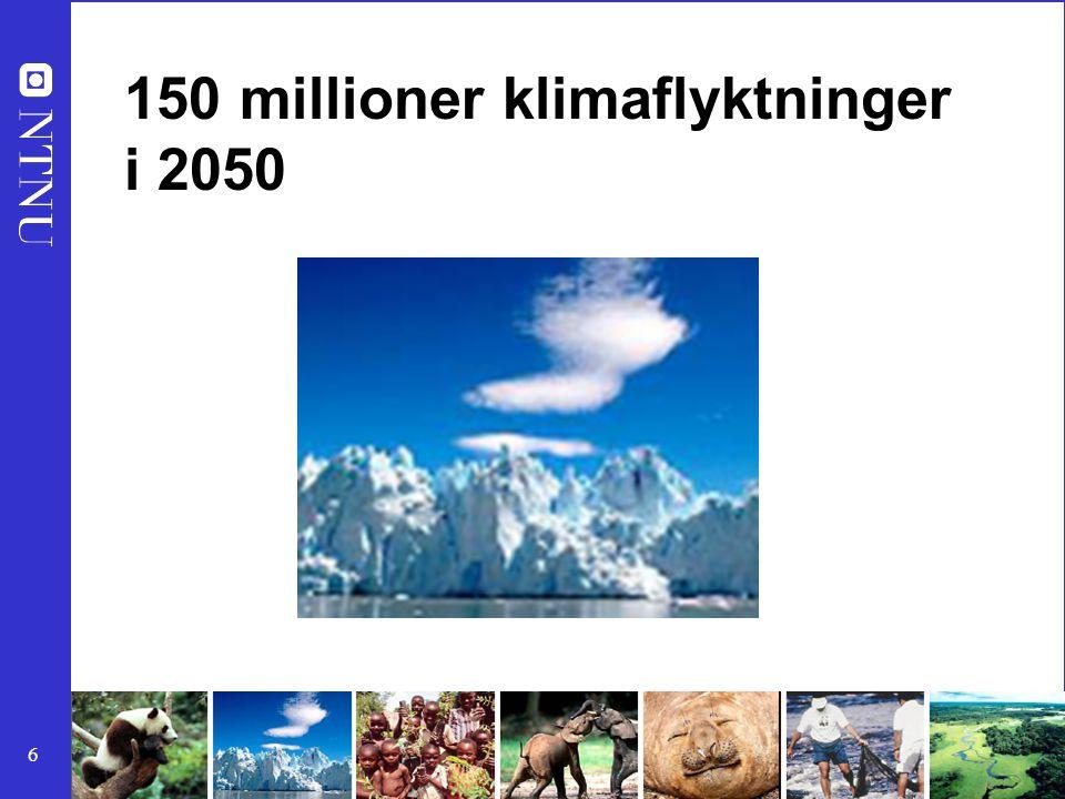 17 60% av Jordens økosystemer er svekket Skaden av økosystemene vil øke betraktelig de neste 50 årene Store konsekvenser for menneskets Helse Økonomi Sikkerhet www.millenniumassessment.org Velstandsøkning på bekostning av økologisk tilstand