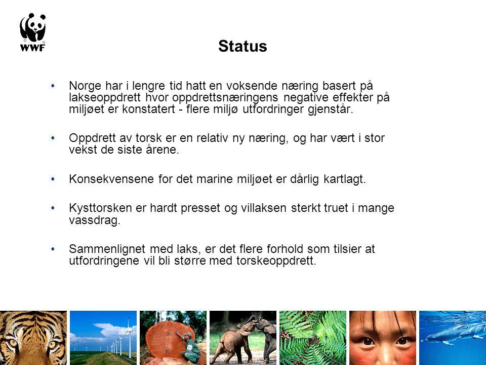 Status Norge har i lengre tid hatt en voksende næring basert på lakseoppdrett hvor oppdrettsnæringens negative effekter på miljøet er konstatert - fle