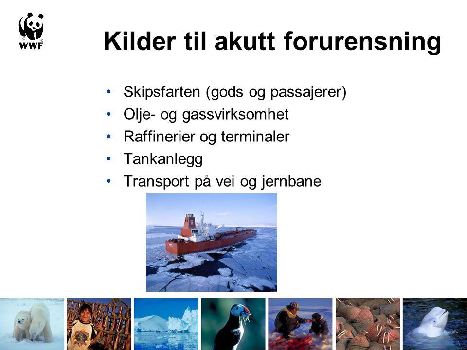 Kilder og risiko for akutt oljeforurensning i Norge og Svalbard