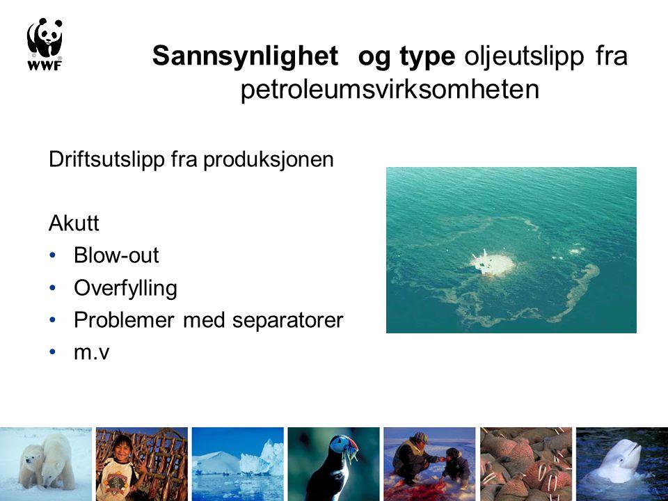 Konsekvenser av oljeforurensning for bl.a.: Sjøfugl Sjøpattedyr Plante- og dyreorganismer i strandsonen Havstrender og strandenger Fiskeegg og larver