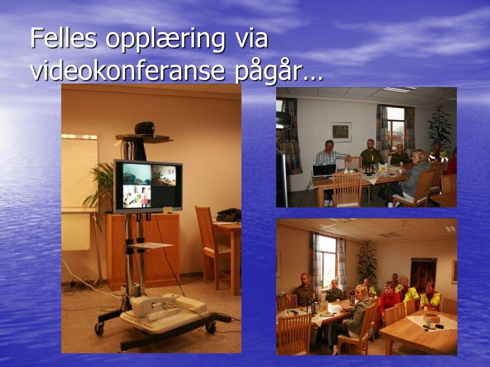 Felles opplæring via videokonferanse pågår…