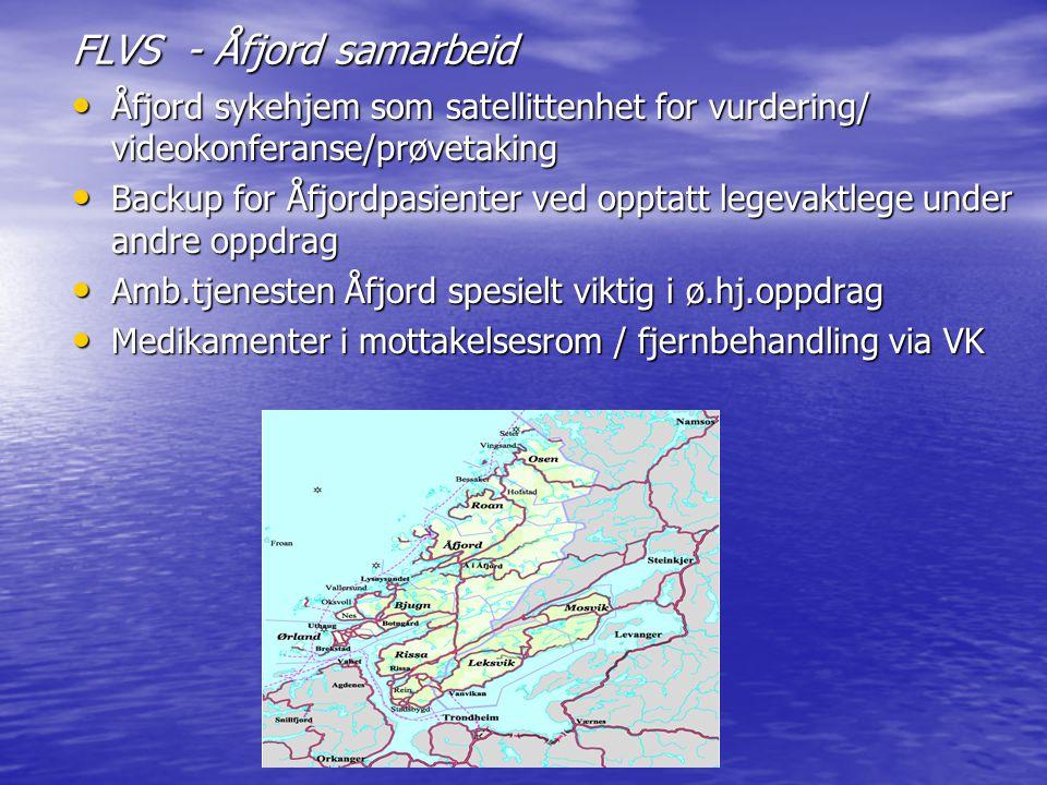FLVS - Åfjord samarbeid Åfjord sykehjem som satellittenhet for vurdering/ videokonferanse/prøvetaking Åfjord sykehjem som satellittenhet for vurdering